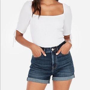 London Jeans Dark Wash Jean Shorts Size 8